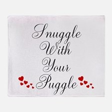 Snuggle With Your Puggle Throw Blanket
