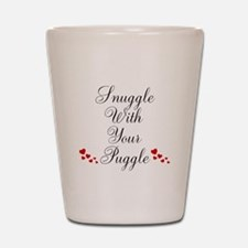 Snuggle With Your Puggle Shot Glass