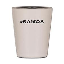 Samoa Hashtag Shot Glass