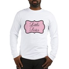 Little Sister Pink and Black Long Sleeve T-Shirt