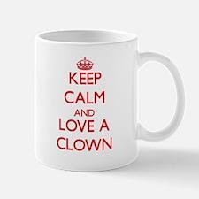 Keep Calm and Love a Clown Mugs