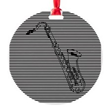 Saxophone on Black and White Ornament