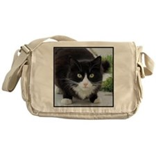 Black and White Cat Messenger Bag