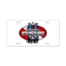 Advanced Open Water Aluminum License Plate