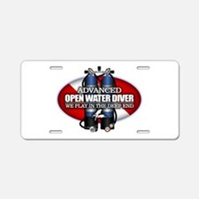 Advanced Open Water Aluminum License Plate