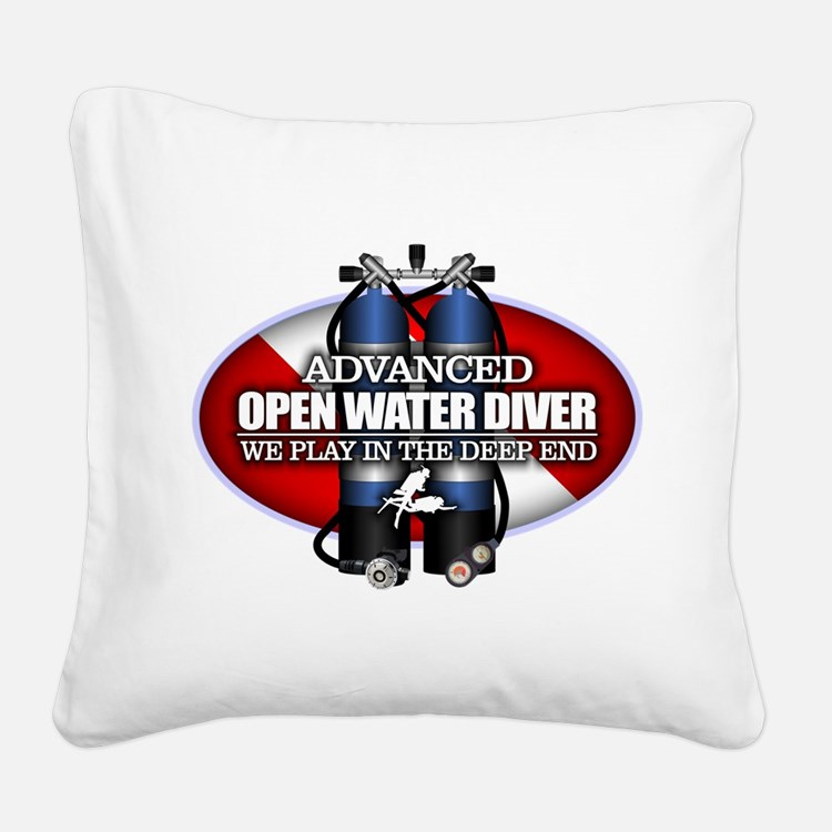 Advanced Open Water Square Canvas Pillow
