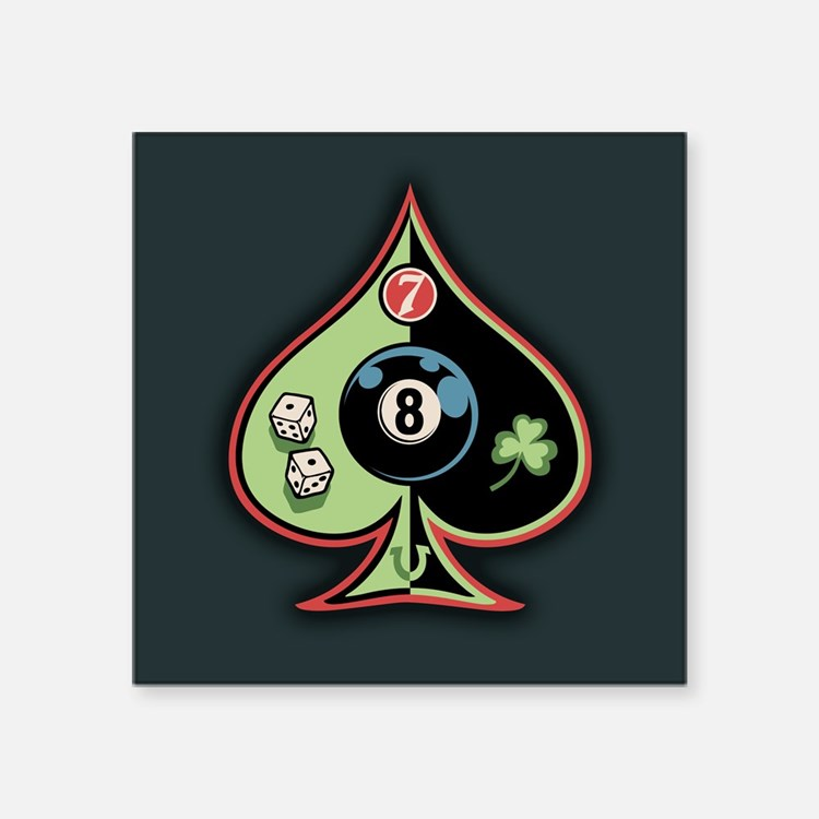 "Cute Shamrock ball Square Sticker 3"" x 3"""
