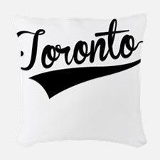 Toronto, Retro, Woven Throw Pillow