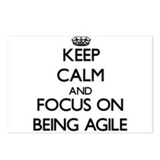 Keep Calm And Focus On Being Agile Postcards (Pack