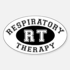 Respiratory Therapy - Athleti Oval Bumper Stickers
