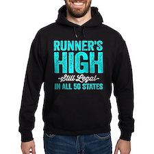 Runner's High. Still Legal. Hoodie