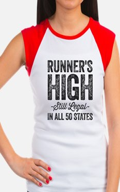 Runner's High. Still Le Women's Cap Sleeve T-Shirt