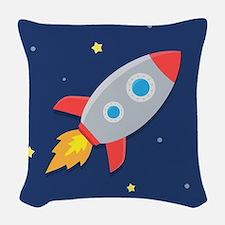 rocket Woven Throw Pillow