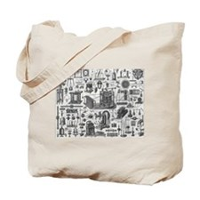 Vintage Physics plates Tote Bag