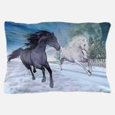 Freedom in the snow Pillow Case