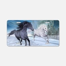 Freedom in the snow Aluminum License Plate