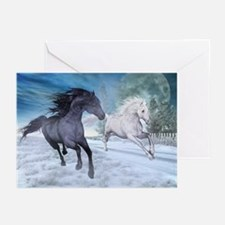 Freedom in the snow Greeting Cards
