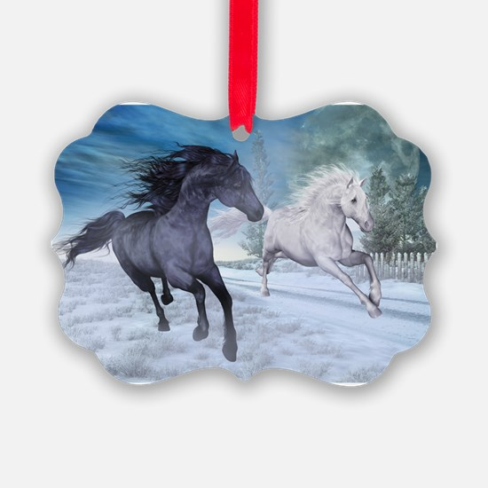 Freedom in the snow Ornament