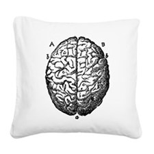 Vintage brain Square Canvas Pillow