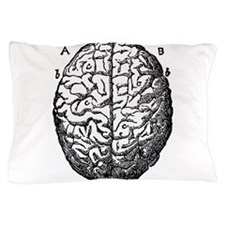 Vintage brain Pillow Case