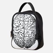Vintage brain Neoprene Lunch Bag