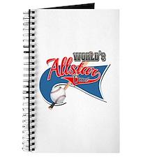 Worlds Allstar Dad Baseball park Flag Journal
