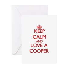 Keep Calm and Love a Cooper Greeting Cards