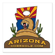 "ArizonaCornhole.com Square Car Magnet 3"" x 3"""