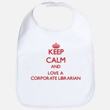 Keep Calm and Love a Corporate Librarian Bib