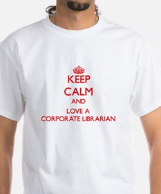 Keep Calm and Love a Corporate Librarian T-Shirt
