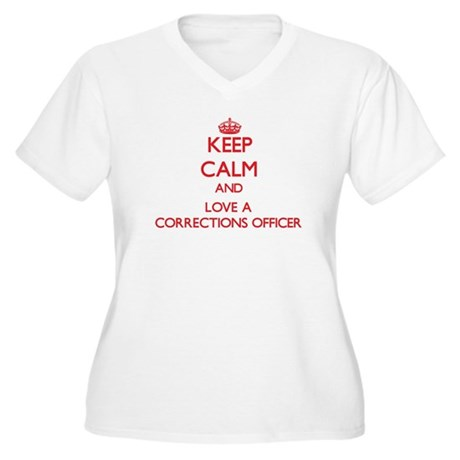 Keep Calm and Love a Corrections Officer Plus Size