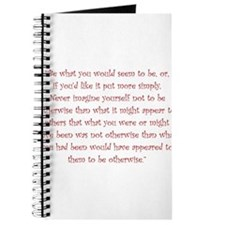 Be What You Would Seem To Be Journal