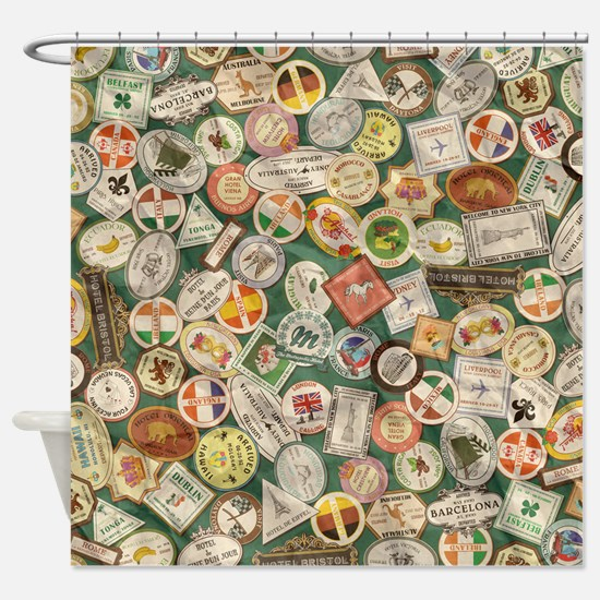TRAVEL TIME Shower Curtain