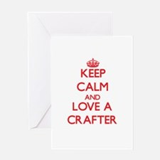 Keep Calm and Love a Crafter Greeting Cards
