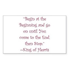Begin At The Beginning Decal