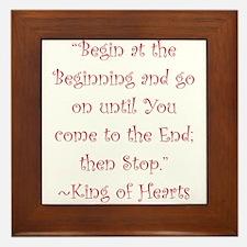 Begin At The Beginning Framed Tile