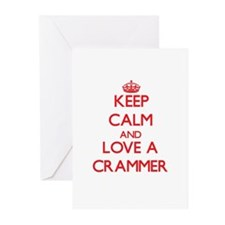 Keep Calm and Love a Crammer Greeting Cards