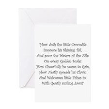 How Doth The Little Crocodile Greeting Cards