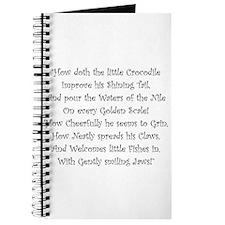 How Doth The Little Crocodile Journal