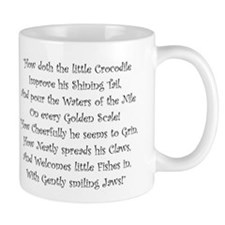 How Doth The Little Crocodile Mugs