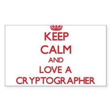 Keep Calm and Love a Cryptographer Decal