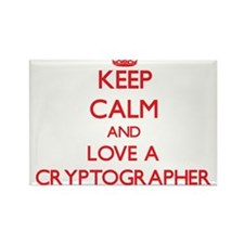 Keep Calm and Love a Cryptographer Magnets