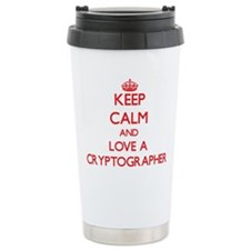 Keep Calm and Love a Cryptographer Travel Mug