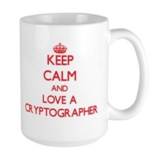 Keep Calm and Love a Cryptographer Mugs