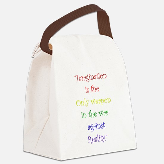Imagination Against Reality Canvas Lunch Bag