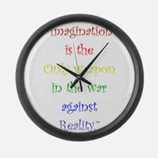 Imagination Against Reality Large Wall Clock
