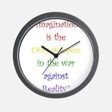 Imagination Against Reality Wall Clock