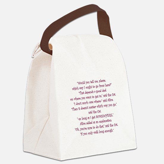 It Doesnt Matter Which Way You Go Canvas Lunch Bag