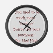 Much More Muchier Large Wall Clock