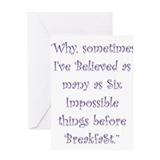 Six Impossible Things Before Breakfast Greeting Ca